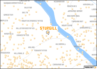 map of Sturgill