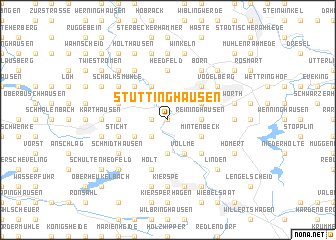 map of Stüttinghausen