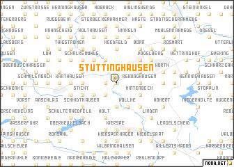 map of Stüttinghausen