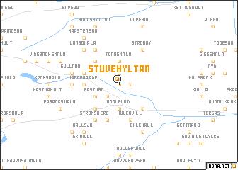 map of Stuvehyltan