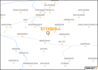 map of Stykovo