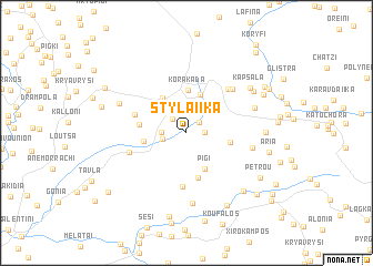 map of Stylaíïka
