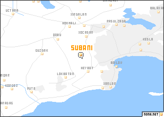 map of Şubanı