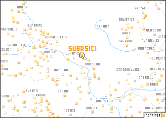 map of Subašići