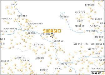 map of Subašići