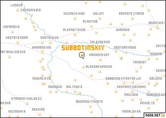 map of Subbotinskiy