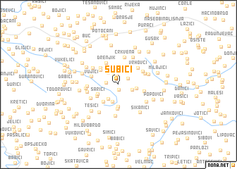 map of Subići