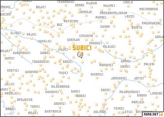 map of Subići