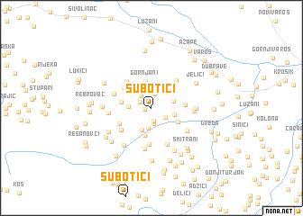 map of Subotići