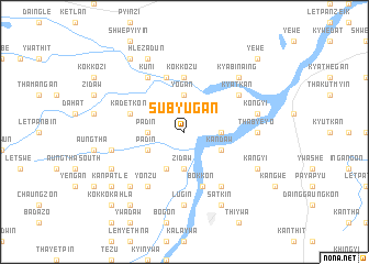 map of Subyugan