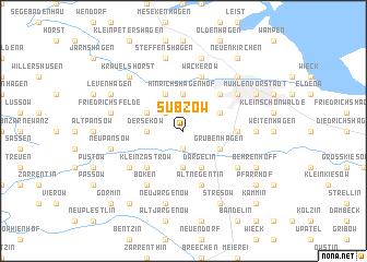 map of Subzow