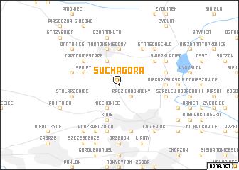 map of Sucha Góra