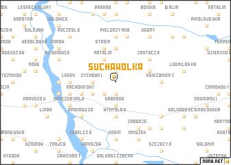 map of Sucha Wólka