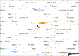 map of Suchodoły