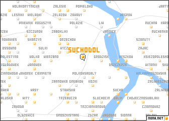 map of Suchodół