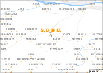 map of Suchowice