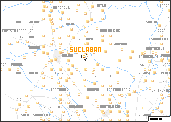 map of Suclaban
