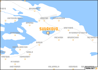 map of Sudakovo
