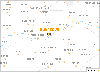 map of Sudakovo