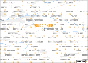 map of Süddinker