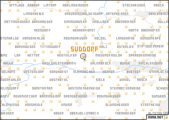 map of Süddorf