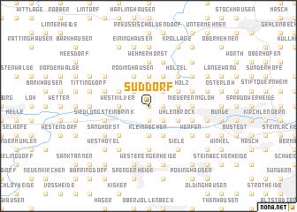 map of Süddorf