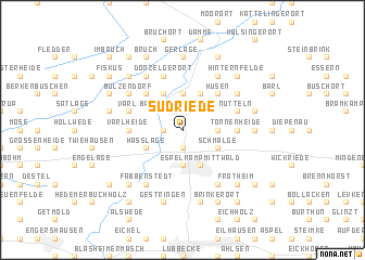 map of Südriede