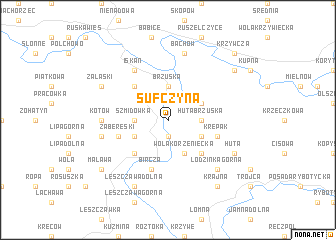 map of Sufczyna