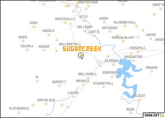 map of Sugar Creek