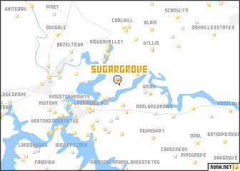 map of Sugar Grove