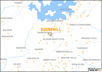 map of Sugar Hill