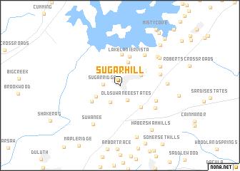 map of Sugar Hill