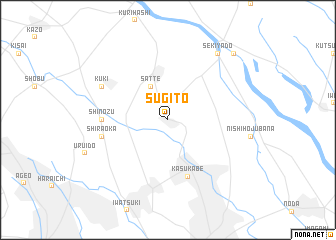 Sugito Japan Map Nona Net