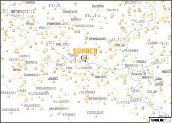 map of Suhača