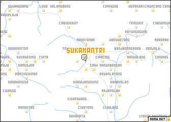 map of Sukamantri