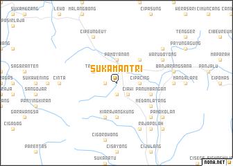map of Sukamantri