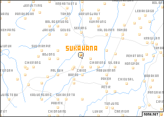 map of Sukawana