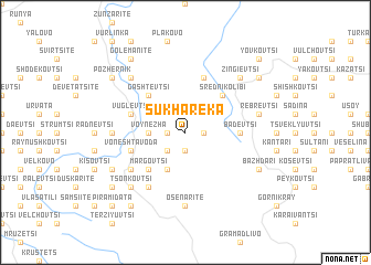 map of Sukha Reka