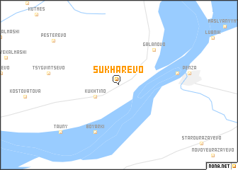 map of Sukharëvo