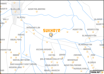 map of Şukhayr