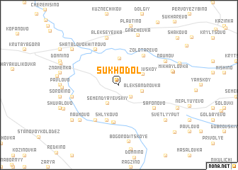 map of Sukhodol