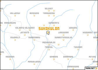 map of Suko-Kulon