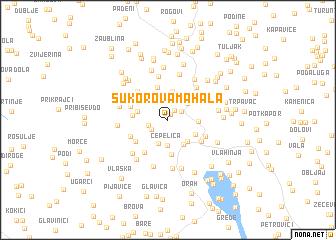 map of (( Sukorova Mahala ))