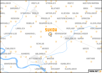 map of Sükow