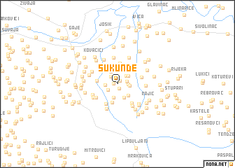 map of Šukunde