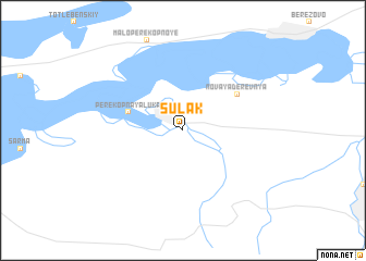 map of Sulak