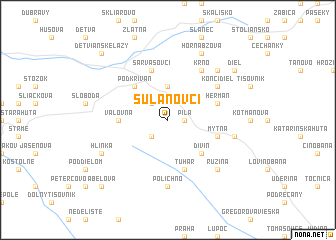 map of Sulanovci