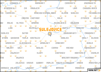 map of Sulejovice