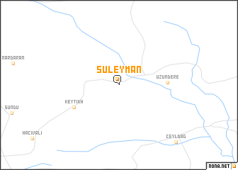 map of Suleyman