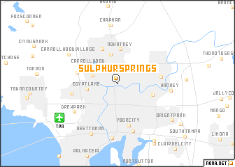 map of Sulphur Springs